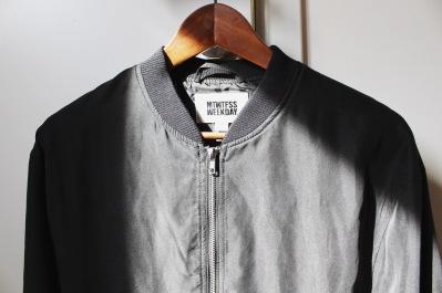 weekday black bomber jacket
