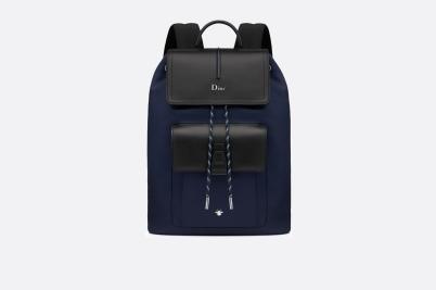 mini sac à dos MOTION bleu marine et veau noir DIOR
